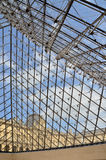 Glass pyramid entrance to the Louvre museum in Paris Stock Photo
