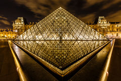 Glass Pyramid in Front of the Louvre Museum, Paris, France Royalty Free Stock Image