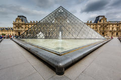 Glass Pyramid in Front of the Louvre Museum, Paris, France Stock Image