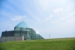 Glass Pyramid. An gorgeous architecture at Moerenuma Park in Hokkaido.,Japan Royalty Free Stock Photos