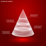 Glass pyramid infographic. Template, vector eps 10 illustration Royalty Free Stock Photography