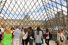 Glass pyramid - Louvre Royalty Free Stock Photos