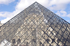 Glass pyramid of Louvre, Paris Royalty Free Stock Images