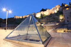 Glass pyramid in Malaga, Spain Royalty Free Stock Images