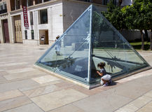 Glass pyramid of Malaga, Spain Royalty Free Stock Images
