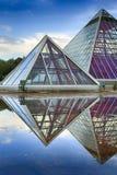 Glass Pyramids Stock Image