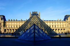 Glass Pyramids at the Louvre Museum Stock Photos
