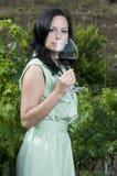 glass röd avsmakningwinekvinna Royaltyfria Foton