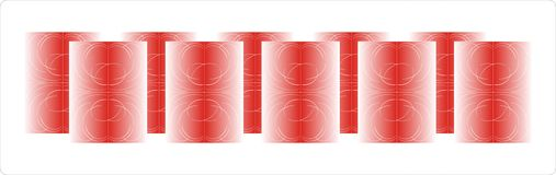 glass röd vase Stock Illustrationer