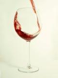 glass röd vine arkivfoto