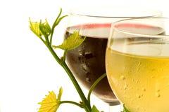 glass röd vit wine Royaltyfri Bild