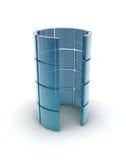 Glass rör Arkivfoton