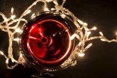glass r?tt vin arkivfoto