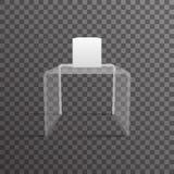 Glass rack shelf podium 3d isometric realistic design vector illustration Stock Photo