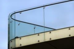 Glass railings on a balcony.  Stock Image