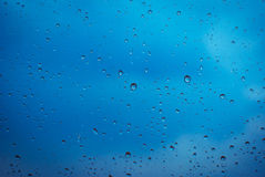 Glass with rain drops Stock Photography