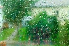 glass rain Stock Photo