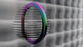 Glass rainbow lamp. Abstract 3d graphics of a glass rainbow lamp Royalty Free Stock Images