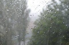 glass raindrops Arkivbilder