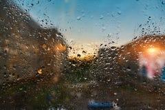 glass raindrops Royaltyfri Bild