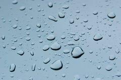 glass raindrops Arkivfoton