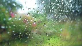 Glass raindrops Royalty Free Stock Photo