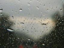 glass raindrops royaltyfria bilder