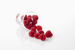 Glass with raspberries Royalty Free Stock Image