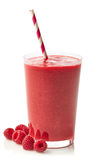 Glass of raspberry smoothie Stock Image