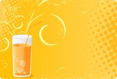 glass rastrerad fruktsaft för baner Royaltyfria Bilder