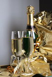 Glass ready for  Holiday. Christmas Royalty Free Stock Photo