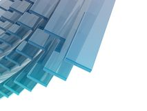 Glass rectangles Stock Photos