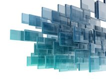 Glass rectangles. On white background. digitally generated image Stock Photography
