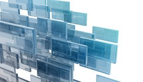 Glass rectangles Stock Images