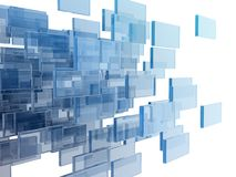 Glass rectangles. On white background. digitally generated image Royalty Free Stock Photo
