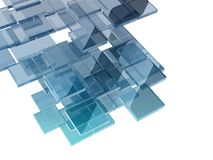 Glass rectangles Royalty Free Stock Images