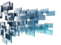 Glass rectangles Royalty Free Stock Image