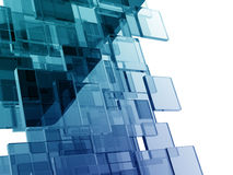Glass rectangles. On white background. digitally generated image Royalty Free Stock Images