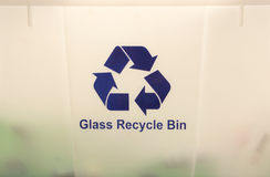 Glass Recycle Bin Royalty Free Stock Images