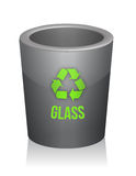 Glass recycle trashcan Royalty Free Stock Photography