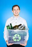 Glass recycling Royalty Free Stock Image