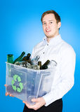 Glass recycling Stock Image
