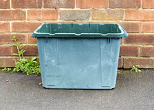 Glass recycling bin Royalty Free Stock Images