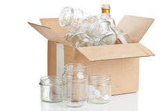Glass recycling Royalty Free Stock Photo