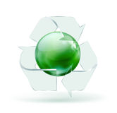 Glass recycling symbol Stock Images
