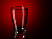 Glass on a red Royalty Free Stock Photos