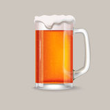 Glass of red beer vector illustration