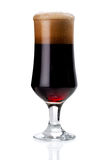 Glass of red beer foam. lager beer in a glass beaker with fresh Stock Images