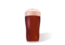 A glass of red beer. Invitation to the St. Patrick`s Day. Royalty Free Stock Images