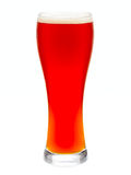 Glass of red beer isolated Royalty Free Stock Photos